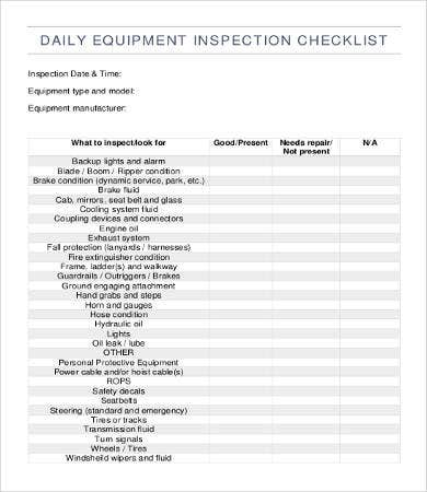 equipment checklist template 12 free word pdf documents download free premium templates. Black Bedroom Furniture Sets. Home Design Ideas