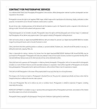 contract for photographic services pdf format min