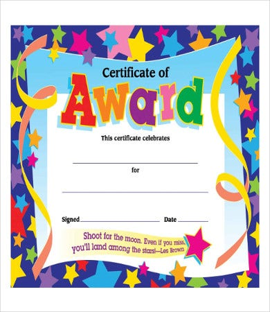 Certificate Of Achievement Template For Kidu0027s  Free Certificate Of Achievement