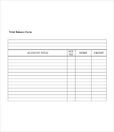 trial balance sheet template koni polycode co