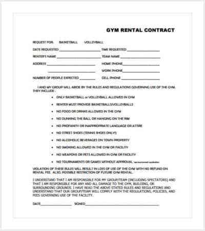 Gym Contract Template. gym membership application form guiler ...