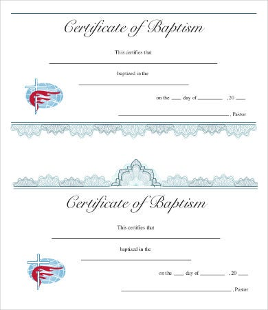baptism certificate template 10 free pdf documents download