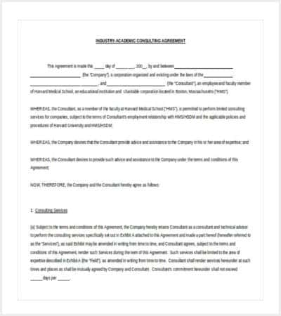 Microsoft Word Contract Template