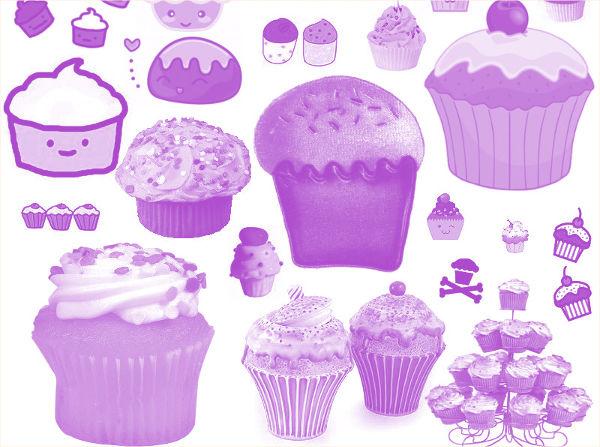 Free Cupcake Brushes
