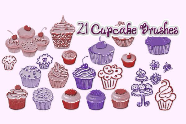 21 Cupcake Brushes