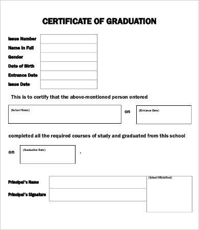 Blank Certificate   Free Word Pdf Documents Download  Free