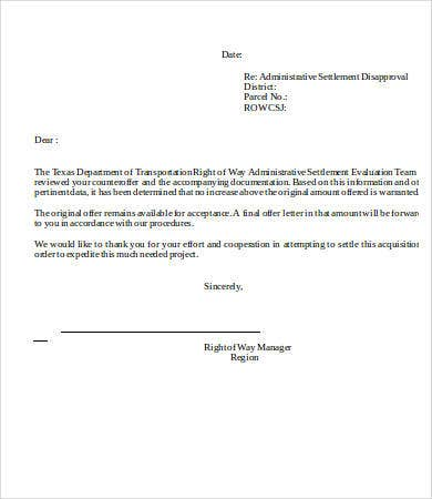 Disapproval Letters   Free Word Pdf Documents Download  Free