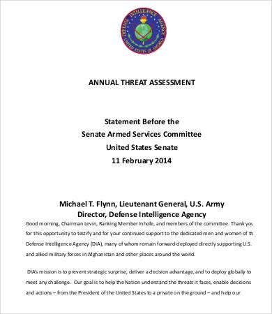 annual threat assessment