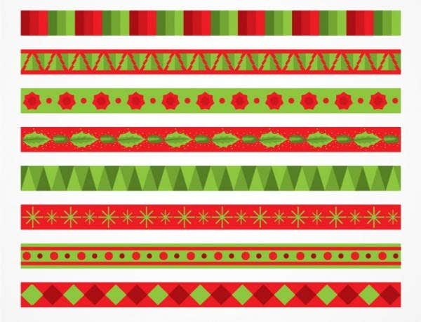 geometric-christmas-border-vector