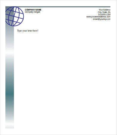 personal business letterhead