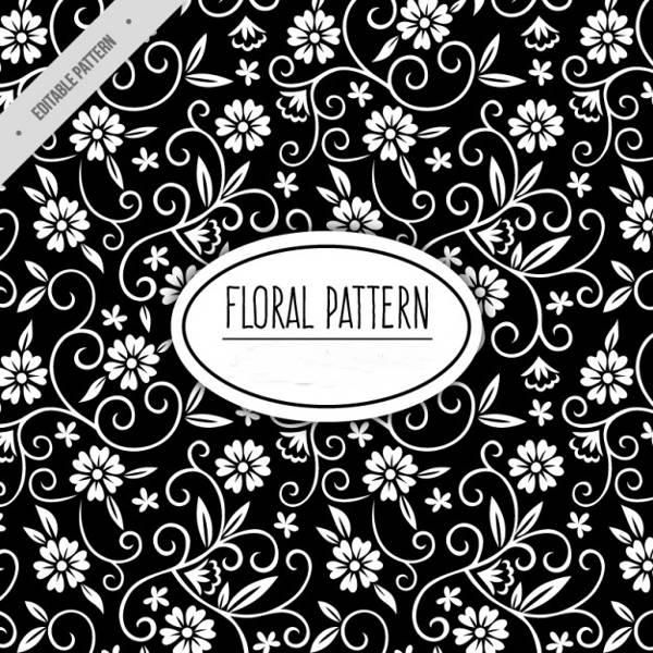floral black pattern
