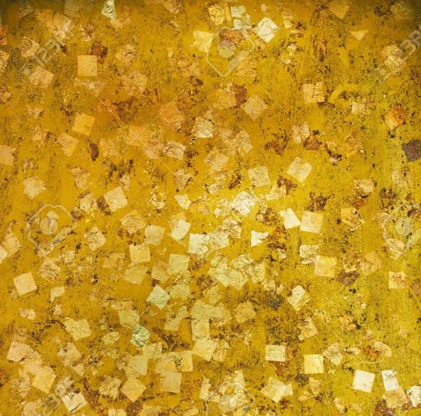 gold foil leaf texture