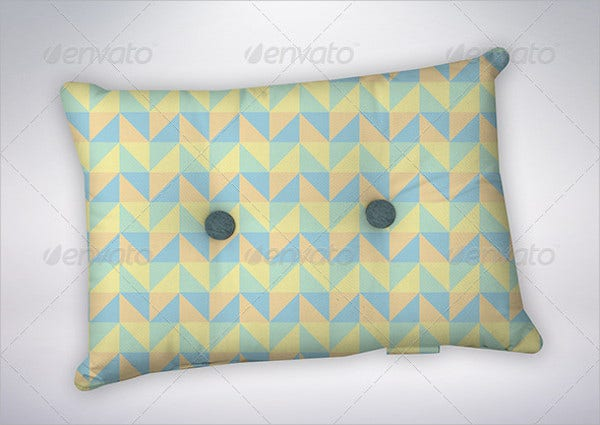 Padded Button Pillow Mockup