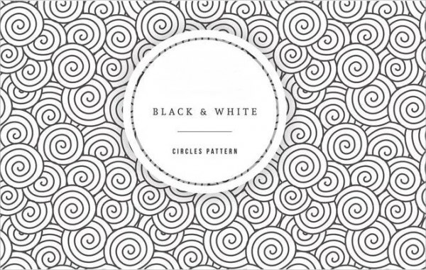 black-and-white-circle-pattern