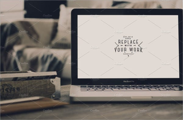 Hip Macbook Pro Mockup
