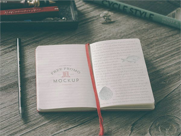 Hip Notebook Mockup