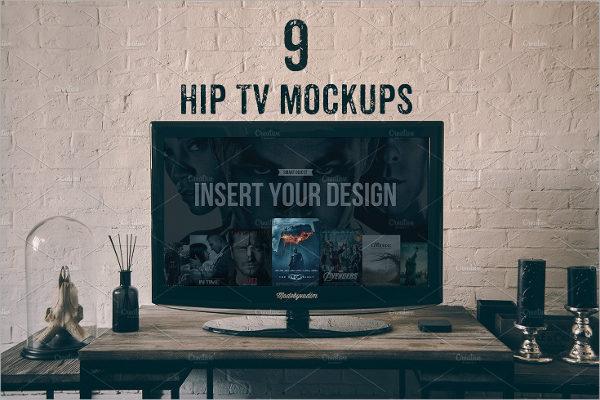 Hip Tv Mockup