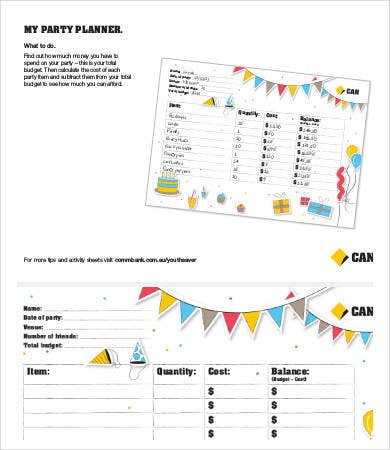 Party Budget Template - 8+ Free Word, PDF Documents Download ...