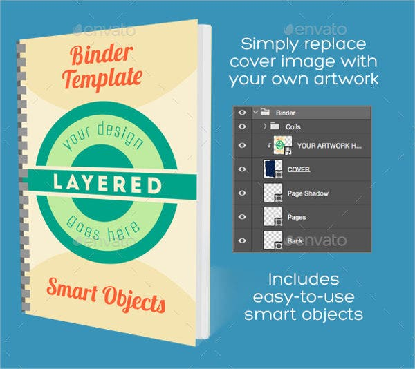 Note Binder Mockup PSD