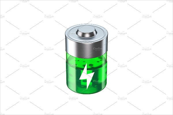 battery 3d icon