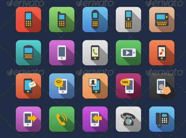 flat-phone-icons