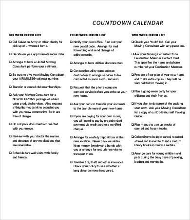 basic countdown calendar template