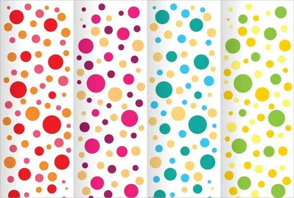 colorful polka dot patterns