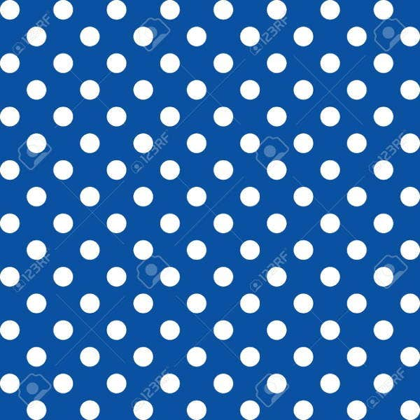 blue polka dot patterns