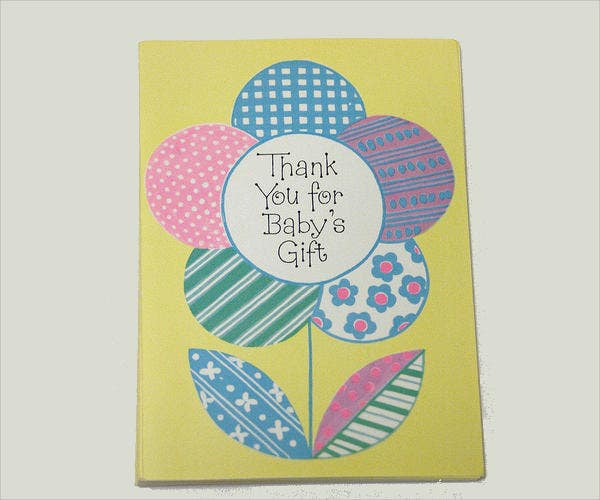 vintage baby shower thank you card