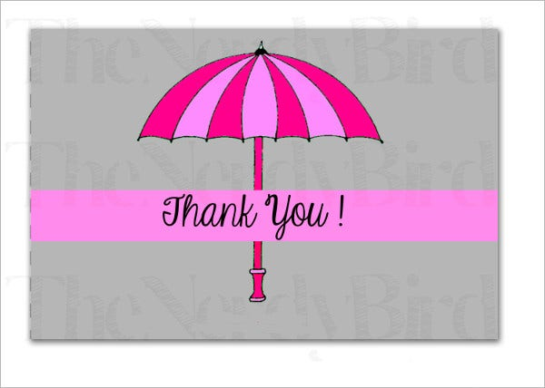 Printable Baby Shower Thank You Card