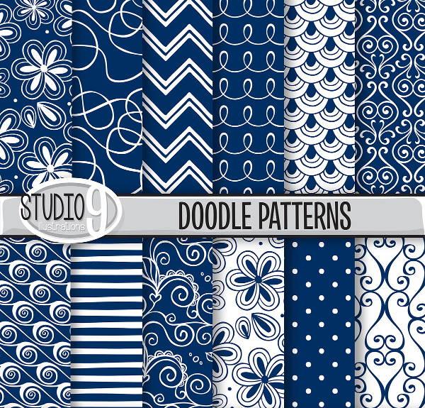 blue-doodle-patterns