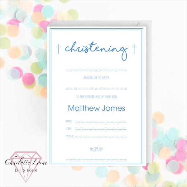 Blank Baptism Invitation Template