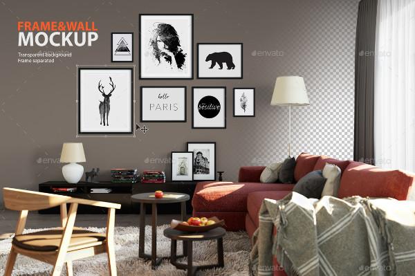 Frame and Wall Mockup