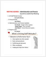hr staff meeting agenda sample template