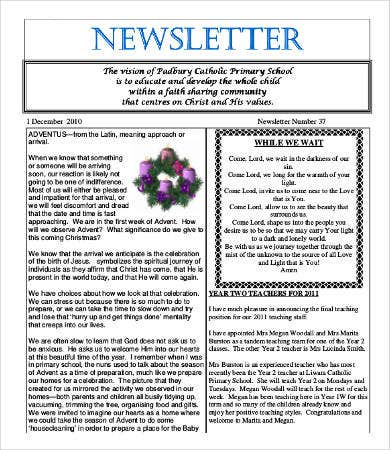 Best Newsletter Formats Free Word PDF Documents Download - Newsletter format template