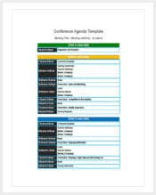 printable conference agenda template