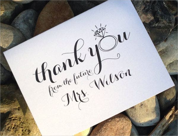 Bridal Shower Thank You Gift Card
