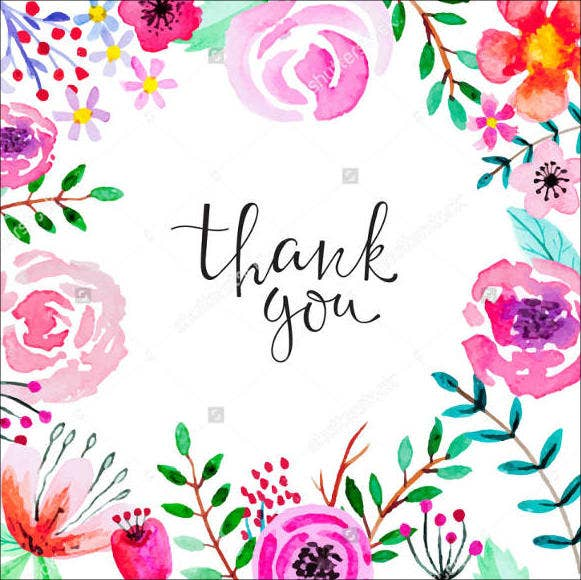 vintage floral thank you card1