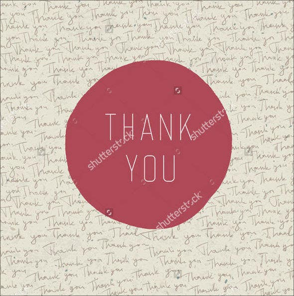 vector vintage thank you card2