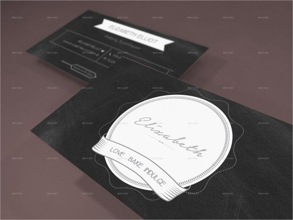 Chalkboard Business Card Template