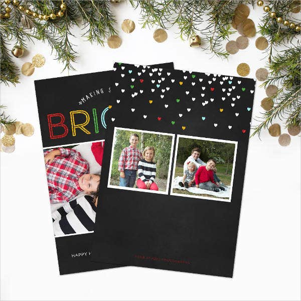 Chalkboard Holiday Card Template