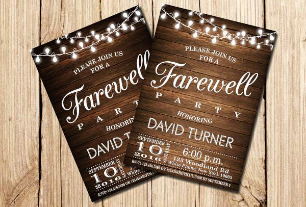 Vintage Farewell Invitation