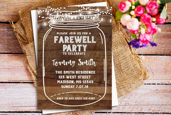 Printable Farewell Invitation Template