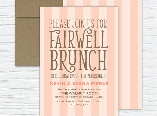 formal farewell invitation template