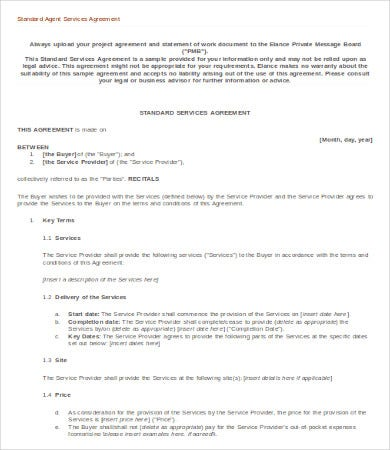 service-agent-agreement-template