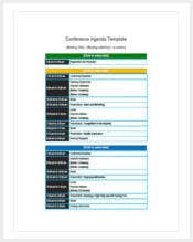 printable conference agenda template1