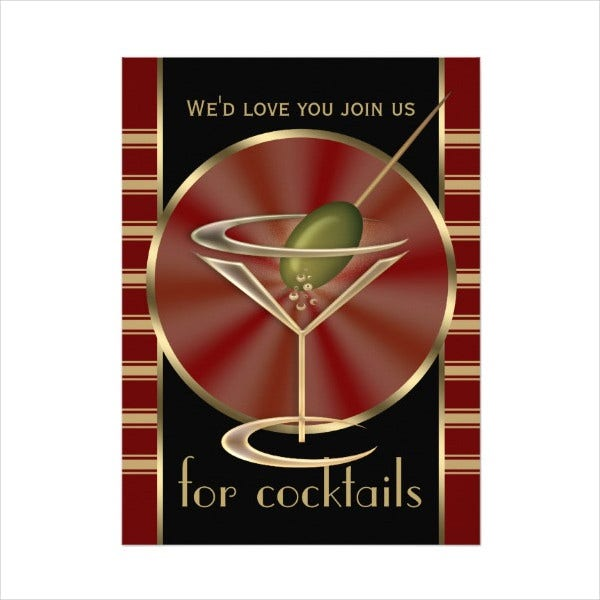 26 Cocktail Party Invitation Templates – Cocktail Party Invitation Template