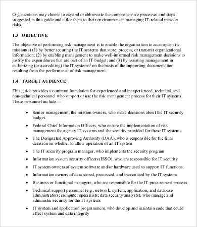 It Risk Assessment Template   Free Word Pdf Documents