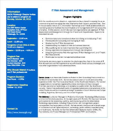 IT Risk Management Assessment Template