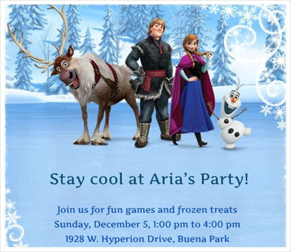 Frozen Themed Invitation Template